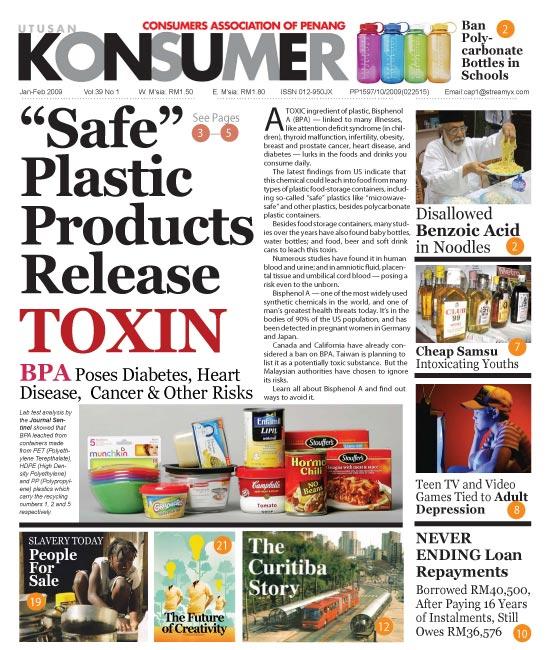 Front cover Utusan Konsumer Issue Issue 39-1 Jan-Feb 2009