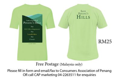 Save Penang's Hills T-shirt - Green