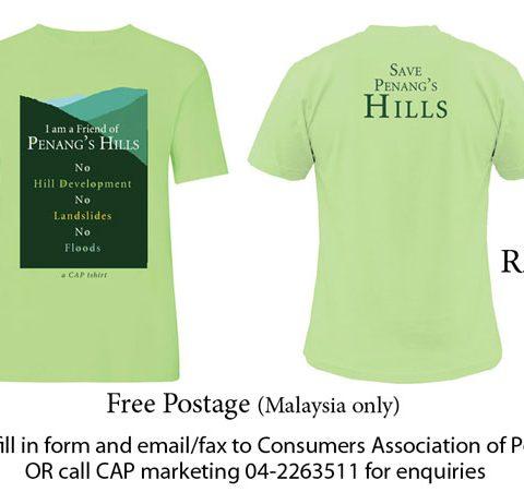 Save Penang's Hills T-shirt - Green